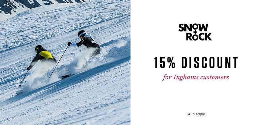 Snow + Rock- 15% Discount