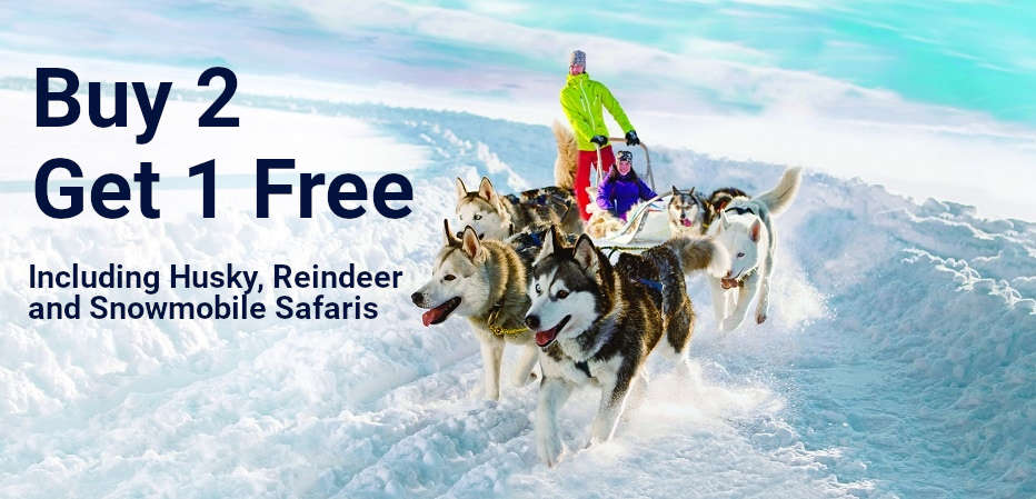 Lapland Excursion Offer - Buy 2 Get 1 Free!